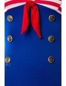 Платье ретро в морском стиле B5443 (105443) - оригинальная одежда, 2