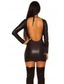 Платье под кожу KC7157 (127157) - цена, 4