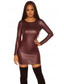 Бордовое платье под кожу KouCla (127158) - материал, 6