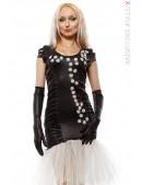 Вечернее платье с перчатками и вышивкой (105143) - foto