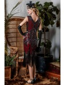 Платье с пайетками и бахромой в стиле 20-х XC299 (105299) - материал, 6