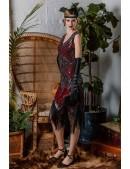 Платье с пайетками и бахромой в стиле 20-х XC299 (105299) - оригинальная одежда, 2