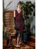 Платье с пайетками и бахромой в стиле 20-х XC299 (105299) - цена, 4