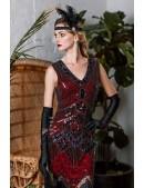 Платье с пайетками и бахромой в стиле 20-х XC299 (105299) - foto