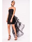 Кожаное платье со шлейфом X5454 (105454) - оригинальная одежда, 2