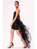 Кожаное платье со шлейфом X5454 (105454) - цена, 4