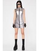 """Серебристое платье с эффектом """"металлик"""" X456 (105456) - оригинальная одежда, 2"""