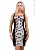 Кожаное платье со шнуровкой X5469 (105469) - foto