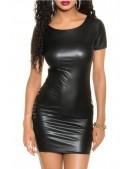 Платье с имитацией кожи KouCla (105470) - материал, 6