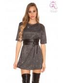 Короткое платье с блестками KC446 (105446) - foto
