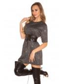 Короткое платье с блестками KC446 (105446) - цена, 4