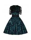 Винтажное платье с ажурной шалью XC5463 (105463) - цена, 4