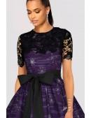 Платье с шалью и поясом XC5464 (105464) - цена, 4