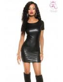 Платье с имитацией кожи KouCla (105470) - foto