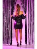 Кожаное платье с открытыми плечами KouCla (105474) - цена, 4
