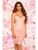 Платье под кожу с откровенным декольте KC5334 (105334) - foto