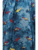 Винтажное платье с морским принтом X5491 (105491) - цена, 4