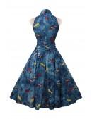 Винтажное платье с морским принтом X5491 (105491) - оригинальная одежда, 2