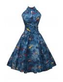 Винтажное платье с морским принтом X5491 (105491) - foto