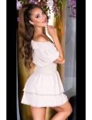 Кокетливое короткое платье с V-образным вырезом KC505 (105505) - оригинальная одежда, 2