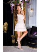 Кокетливое короткое платье с V-образным вырезом KC505 (105505) - 4, 10