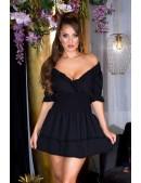 Короткое сексапильное черное платье KC5506 (105506) - оригинальная одежда, 2