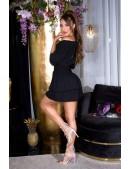 Короткое сексапильное черное платье KC5506 (105506) - цена, 4