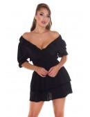Короткое сексапильное черное платье KC5506 (105506) - 3, 8