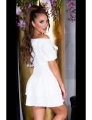 Сексапильное белое платье с глубоким вырезом KC507 (105507) - цена, 4