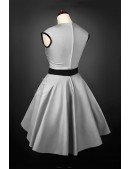 Винтажное серебристое платье с подъюбником X5163 (105163) - оригинальная одежда, 2