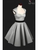 Винтажное серебристое платье с подъюбником X5163 (105163) - foto