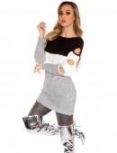 Платье-туника с прорезями на рукавах (105231) - foto