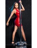 Блестящее красное мини-платье KouCla (127154) - материал, 6