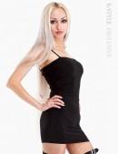 Короткое черное платье (105032) - foto