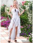 Белое платье с жемчугом (105060) - foto