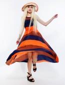 Летнее платье в стиле 80-х 105118 (105118) - оригинальная одежда, 2