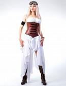 Белое платье с жемчугом (105060) - 4, 10