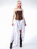 Белое платье с жемчугом (105060) - материал, 6