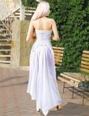 Белое платье с жемчугом (105060) - оригинальная одежда, 2