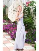 Белое платье с жемчугом (105060) - цена, 4