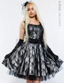 Винтажное платье с подъюбником, перчатками и поясом (105150) - foto