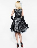 Винтажное платье с подъюбником, перчатками и поясом (105150) - цена, 4