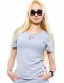 Летняя футболка и юбка с прорезями (118013) - оригинальная одежда, 2