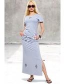 Летняя футболка и юбка с прорезями (118013) - foto