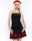 Льняное платье с цветами и вышивкой Xstyle (105126) - цена, 4
