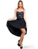 Платье с юбкой-плиссе (105146) - foto