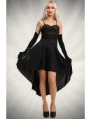 Платье с корсетом и юбкой плиссе KR147 (105147) - foto