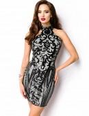 Облегающее платье с блестками A5200 (105200) - foto