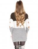 Акриловое платье-туника с прорезями (105233) - 3, 8