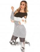 Акриловое платье-туника с прорезями (105233) - 4, 10